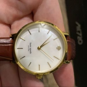 Brown and gold Kate Spade watch.